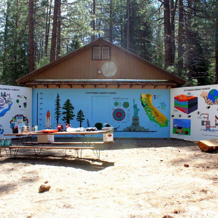 Camp Whitsett Boyscouts Mural
