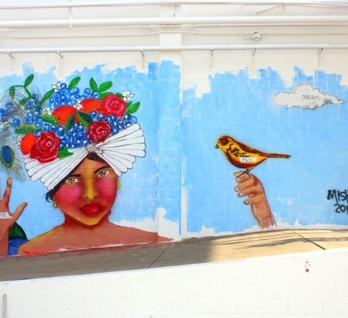 Blueberry Factory Mural